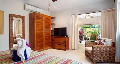 Photo for Modern, comfortable, well-appointed apartment with private garden courtyard.