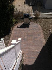 Paver Patio with Weber grill