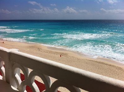 The million dollar view from your balcony.  180 degrees of Caribbean Sea!  WOW!
