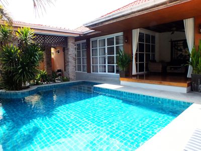 Photo for Good Value 4 Bedroom Private Villa with Private Pool - Only 1kms Walk from Beach
