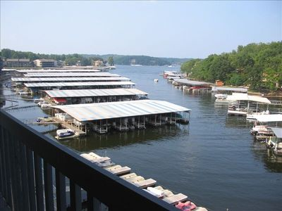 4th floor corner unit provides commanding view of the main channel from the deck