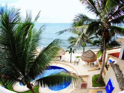 Photo for Beachfront Condo with Pool! Terrace with Hammock! Endless Views! A/C!