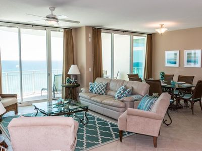 Photo for AQUA 802 - 3BD/3BA Luxury Condo! TWO Beachfront Masters! ***FREE BEACH CHAIRS*** Smart TVs, WiFi...