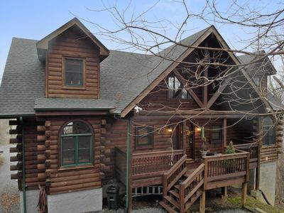 Photo for 7 Bears Lodge- Stunning cabin in Seven Devils with epic game room, hot tub, fire pit!