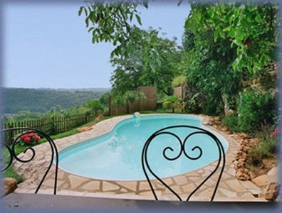 The private pool on its rocky terrace.