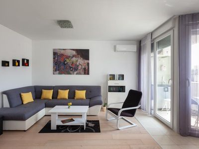 Photo for ctma267 - Modern furnished apartment in Makarska, ideal for 2+2 persons, splendid sea view