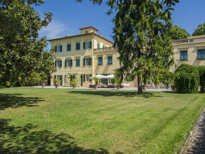 Photo for Lovely apartment in villa for 28 guests with WIFI, private pool, TV and parking, close to Pisa