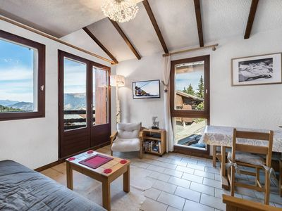 Photo for Apartment with a beautiful view for 4 in Courchevel Moriond 1650