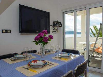 Photo for One bedroom apartment with terrace and sea view Rogoznica