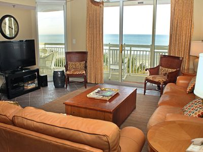 Photo for Crescent Shores 202, 3 Bedroom Beachfront Condo, Hot Tub and Free Wi-Fi!