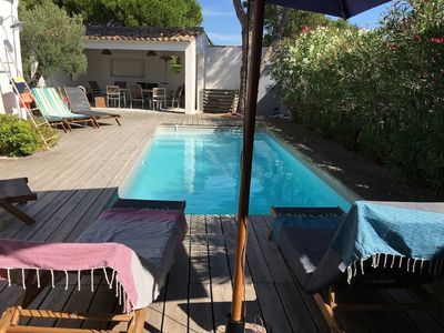 Photo for Le Bois Plage En Re: Completely renovated house with swimming pool near  the beach Le Bois-Plage-en-Ré