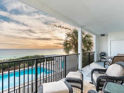 Photo for Oceanfront Condo 3 bedrooms & 3 full baths ,Watch the Dolphins PLAY on 30A