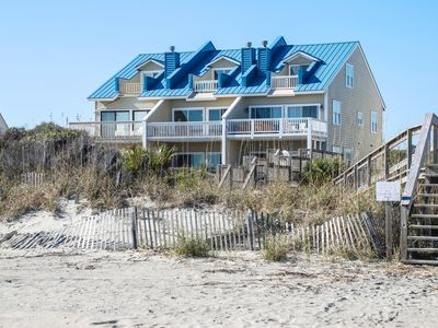 Oceanfront Townhome with 4BD, 4BA, HOT TUB, Balconies, Beach access & much more.
