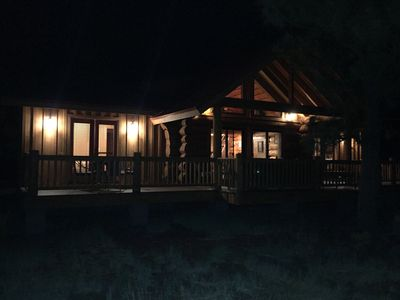 night time picture of Elk Haven Chalet