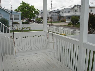 Front Porch Swing, Great for morning/evening coffee and listening to the ocean!