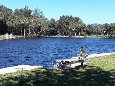 Photo for OLD HOMOSASSA- RIVER WATER FRONT-BOAT HOUSE-ICE MACHINE-DEEP BAY- FOUR KAYAKS