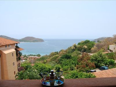 View of Zihuatanejo Bay from the terrace!