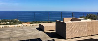 Photo for Luxury villa (Île-Rousse) - air-conditioned - sea view - infinity pool