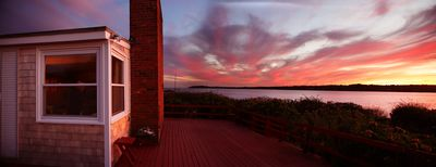 You never want to miss a sunset from the deck.