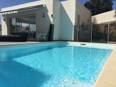 Photo for Villa on the Rte des Sangunairés with private pool.