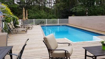 Photo for Escape to the beach! Enjoy  a comfortable home with a heated pool!