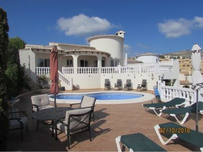 Photo for This Villa is beautifully situated with spectacular sea views