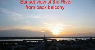 view from back balcony.  Watch sunset and the boats on the intercoastal river.