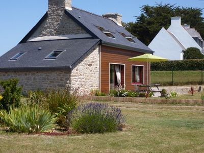 Photo for Nice fisherman wooden and stone house renovated in 2007 in the Iroise sea
