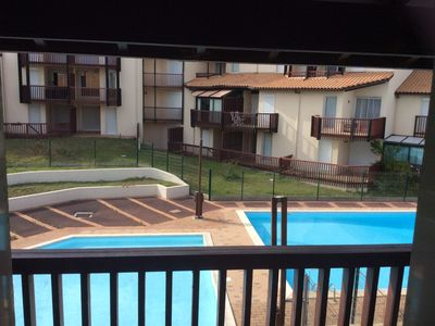 Photo for Apartment T2 cabin facing the lake with pools