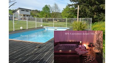 Photo for Cottage ** individual SPA (winter) Heated pool, Pyrenees view