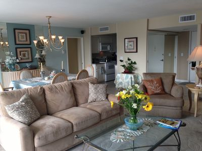 Photo for Beautiful  Cabrillo Condo steps from the beach and family pool.