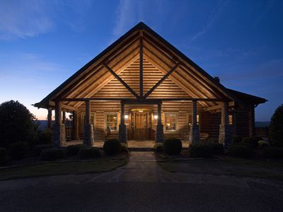 Photo for Dream Ranch Lodge is a 14,000 square foot Log and Stone structure.