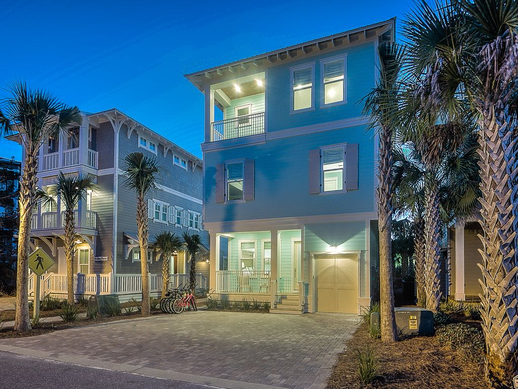 Aqua waters large 30a seacrest beach vacation house with - Florida condo swimming pool rules ...