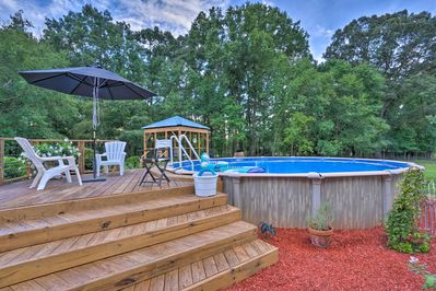 Take a dip in the pool at this vacation rental.