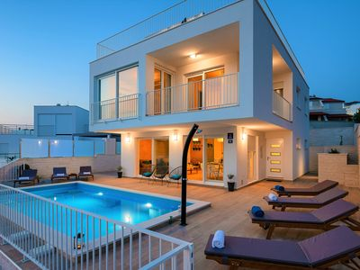 Photo for New villa by the beach with private swimming pool and breathtaking sea view