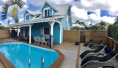Photo for Creole villa CASABWA972 with private pool not overlooked and 200m from the beach