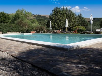 Photo for Old Tuscan contryside house with swimming pool-Val D'Orcia