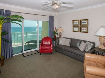 Photo for 2/2 Condo, Gulf-Front, Balcony, W/D, WiFi, Pool, Hot Tub, Games, Fit Ctr - Crystal Shores West 303