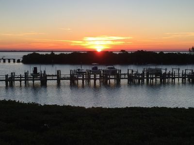 Sunrise over the Intercoastal Waterway from the porch and master bedroom