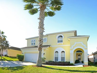 Photo for Large 6 bed, 4 bath villa with games room and private pool with spa. Gated community