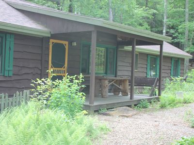 Photo for A Family Lodge in the woods with lake access