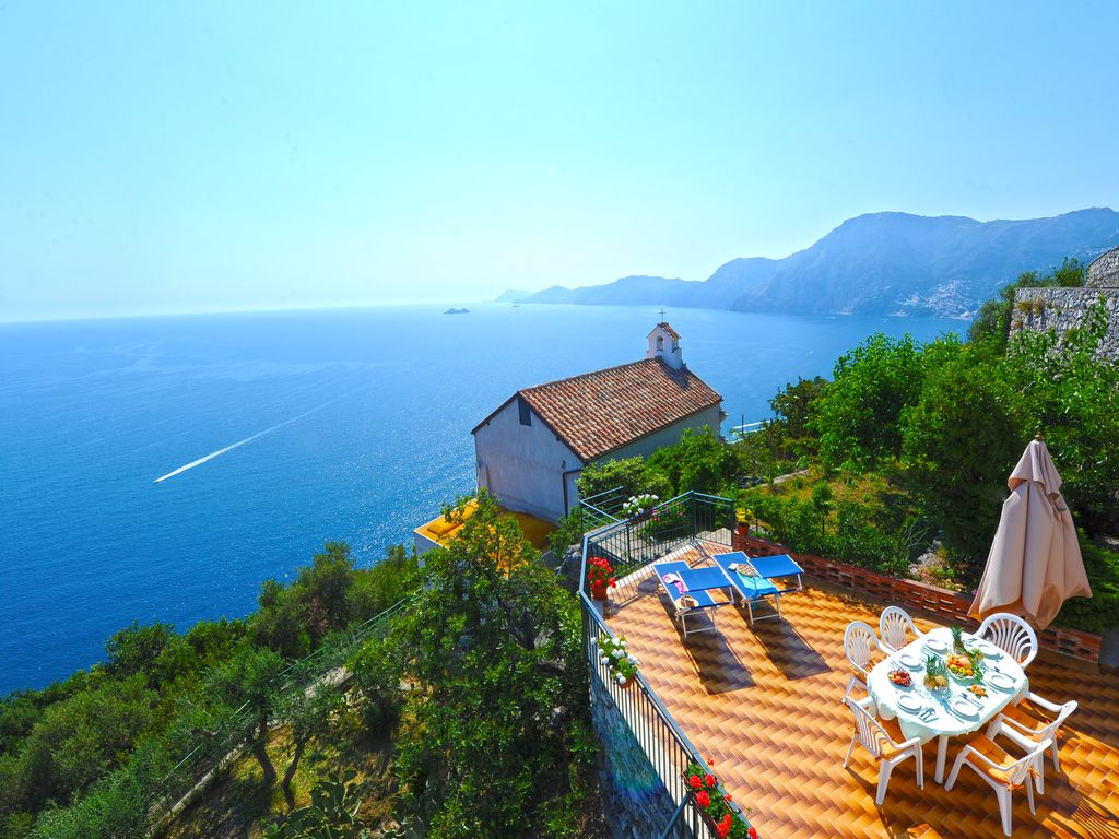 "horizon villa"" has the best view of praiano (amalfi  - 6957937"