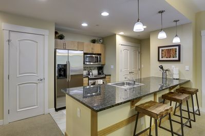 Fully equipped kitchen with upgraded appliances