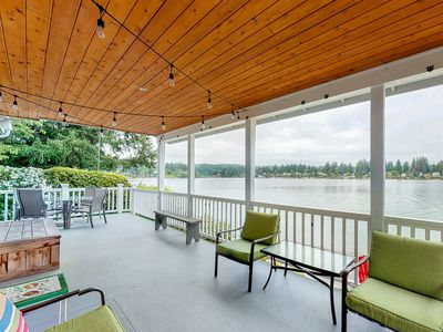 Photo for Waterfront house w/incredible Liberty Bay views, waterfront, deck, and patio!