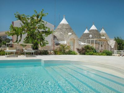 Photo for CASETTA LAVANDA-Trulli with shared pool