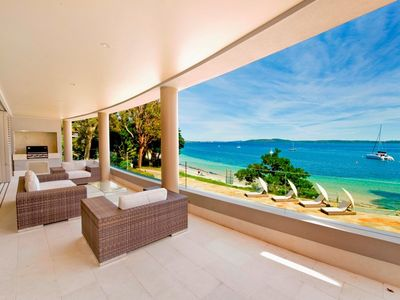 Photo for Luxury Two Bedroom Apartment First Floor 204 - 5 Star Luxury Serviced First Floor Two Bedroom Beachfront Water View Apartment - WIFI Swimming Pool/ Spa Close to town