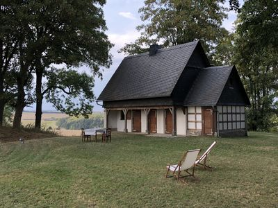 Photo for Luxury hut holiday in the Thuringian Slate Mountains