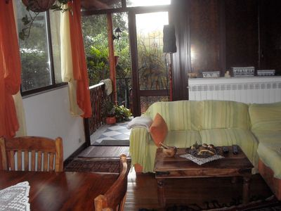 Photo for Mondello, comfortable apartment in villa with garden