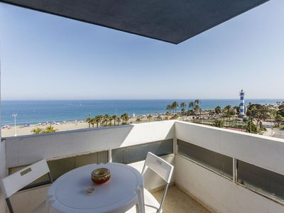 Photo for Río de la Plata apartment in Torre del Mar with shared terrace, balcony & lift.