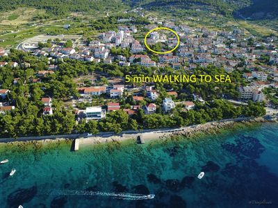 Photo for 5 min from beach and center of Bol and near Zlatni rat beach.Supermarket near
